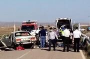 تصادف سمند و پیکان ۶ کشته و پنج مجروح داشت