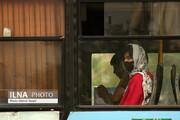 تصاویر | نمایی از اجباری شدن استفاده از ماسک در اتوبوس