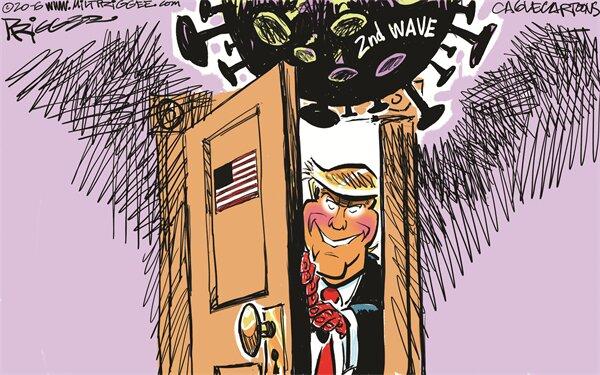 ببینید پس از بازگشایی آمریکا چه چیزی در انتظار ترامپ است؟