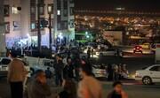 تصاویر   مردم تهران پس از زلزله: از استراحت با ماسک در ایستگاه اتوبوس تا چادرزنی در محله احمدی نژاد!