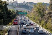 ترافیک نیمه سنگین در آزاد راه کرج- تهران