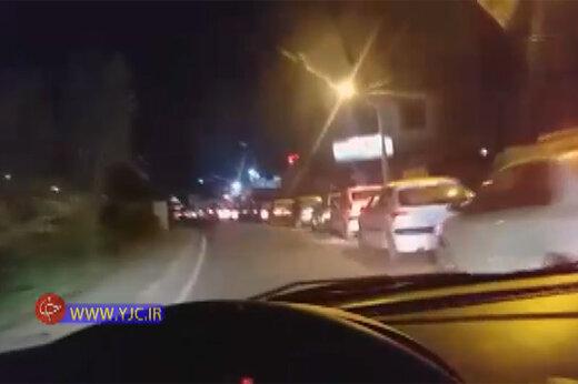 ببینید | صف طولانی پمپ بنزین در غرب تهران