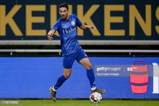 میلاد محمدی در ترکیب خنت در هفته اول لیگ بلژیک/عکس