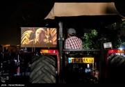 تصاویر | اولین سینما تراکتور در ایران فیلم حاتمیکیا را پخش کرد