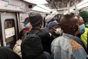 عکس | ازدحام جمعیت در متروی پاریس بعد از لغو قرنطینه