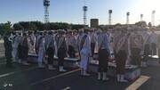 استقبال مقامات بلندپایه ارتش از پیکر شهدای حادثه ناوچه کنارک نیروی دریایی +عکس