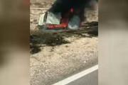 ببینید | تصادف شدید پژو در فاریاب و فیلمبرداری به جای کمک به راننده ( حاوی تصاویر دلخراش)