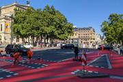 عکس | راهکار دوچرخه ای در آلمان به دلیل کرونا !