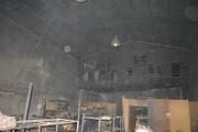 مهار آتش سوزی در کارخانه کفش