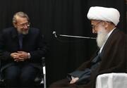 تقدیر آیتالله نوری همدانی از تلاشهای ۱۲ ساله علی لاریجانی در مجلس