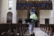 تصاویر   ضدعفونی کلیسایی در تهران
