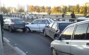 تصادف زنجیرهای در مشهد