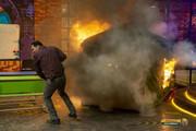 پخش قسمتی از مسابقه تلویزیونی که منجر به آتش گرفتن صحنه شد