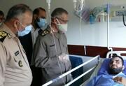 عیادت رئیس دفتر نظامی رهبر انقلاب از مجروحین حادثه تلخ ناوچه نظامی ارتش در کنارک