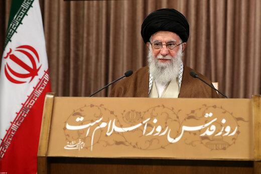 قائد الثورة: سياسة الاستكبار والصهيونية تتركز على تغييب المسألة الفلسطينية