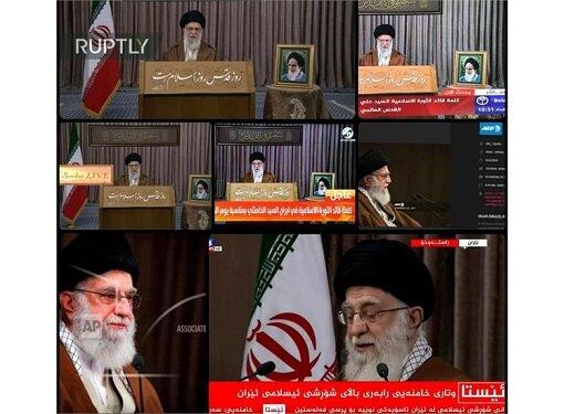 پوشش گسترده بیانات رهبر انقلاب در روز قدس در رسانههای جهان