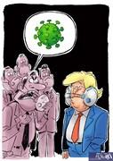ببینید: بالاخره ترامپ ماسک زد!