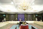 عکس یادگاری آخر لاریجانی با روحانی و رئیسی از جایگاه رئیس مجلس