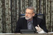 لاريجاني يهنئ رؤساء البرلمانات الاسلامية بمناسبة عيد الفطر السعيد
