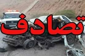 فوت راننده در حادثه رانندگی محور اصفهان - نایین