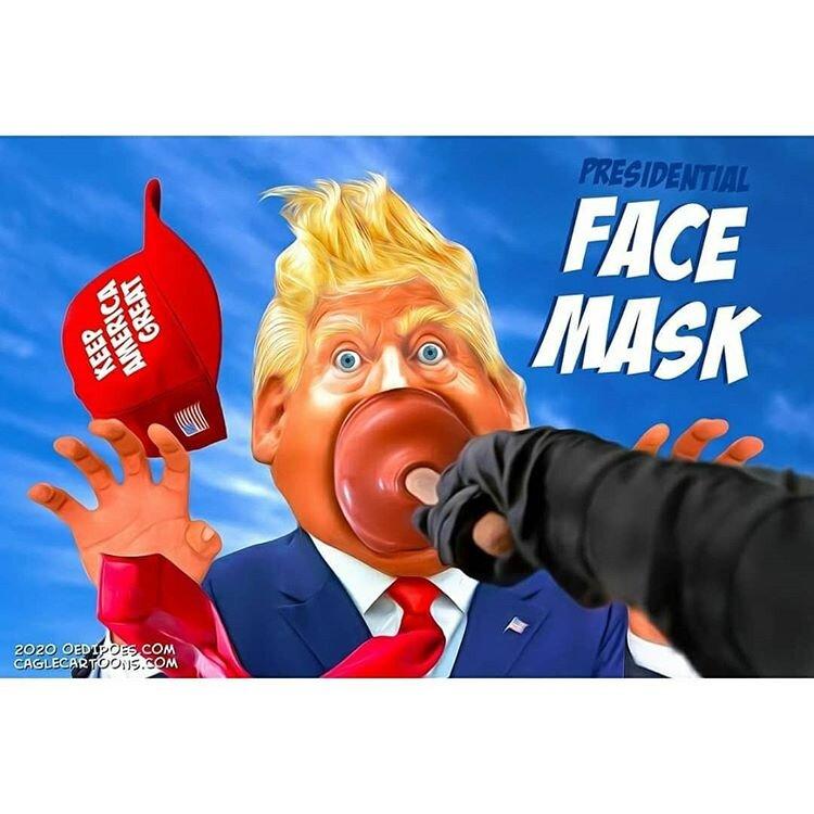 بالاخره ماسک مخصوص ترامپ پیدا شد!