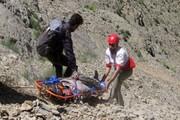 نجات موتورسیکلتسوار در کوه«باریک» ایلام