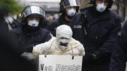 دستگیری معترضان ضد قرنطینه در برلین