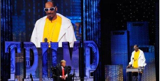 متلک خواننده آمریکایی به ترامپ/ عکس