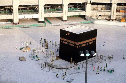 ببینید | تصاویر هوایی از مکه در روز عید فطر