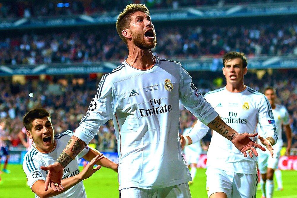 بهترین لحظه سرخیو راموس با لباس رئال مادرید/عکس