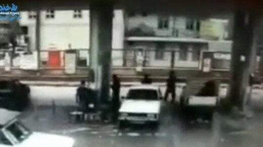 ببینید | لحظه انفجار مخرن cng پیکانوانت در  شهرستان پاوه