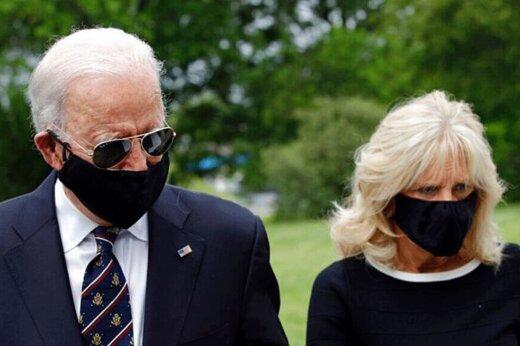 ببینید | حضور رقیب انتخاباتی ترامپ در یک رویداد عمومی با ماسک