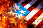 ببینید | آمریکاییهای خشمگین پرچم کشورشان را آتش زدند