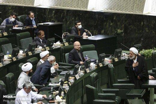 رودررو شدن قالیباف و آقاتهرانی در صحن مجلس بعد از حملات تند دبیرکل جبهه پایداری +عکس