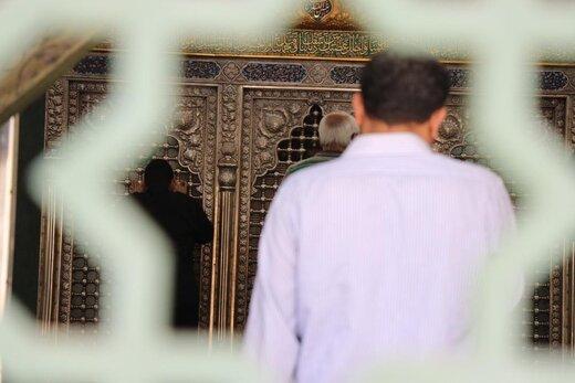 تصاویری از بازگشایی حرم حضرت زینب (س)