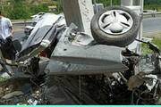 عکس | صحنه تصادف پراید که یک زوج جوان را قربانی کرد