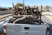 """کشف ۴۰۰ کیلوگرم چوب جنگلی بلوط قاچاق در """"کیار"""""""