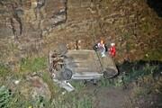 سقوط خودرو به درهای در ارتفاعات خلج مشهد