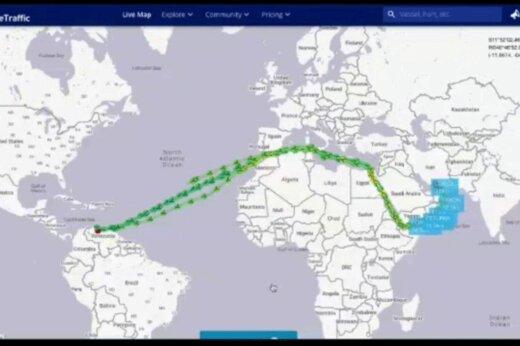 ببینید | لحظه حرکت همزمان ۵ نفتکش ایرانی به سمت ونزوئلا