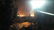 ببینید | آتش سوزی وسیع در بوستان ولایت تهران