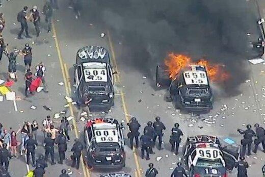 شهردار لس آنجلس حکومت نظامی اعلام کرد