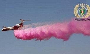 پرواز بالگردهای هوانیروز ارتش و سپاه برای خاموش کردن آتش جنگلهای بوشهر و خوزستان