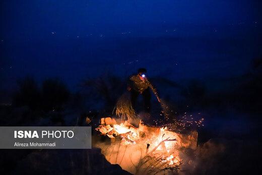 خائیز در آتش