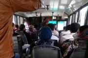 مردم میتوانند روی تمام صندلیهای اتوبوس بنشینند