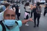 ببینید | پرتاب نارنجک توسط پلیس آمریکا در بین معترضان به قتل جرج فلوید