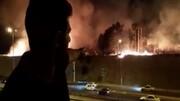 ببینید | روایت شاهدان از وقوع آتش سوزی در پارک چیتگر تهران