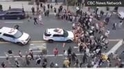 ببینید | سانسور لحظه زیرگرفتن معترضان توسط پلیس آمریکا در تلویزیون این کشور