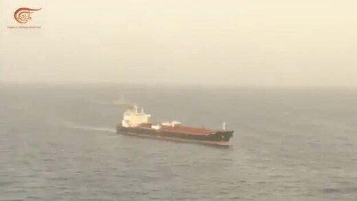 ببینید | اسکورت نفتکش ایرانی «کلاوِل» توسط نیروهای مسلح ونزوئلا