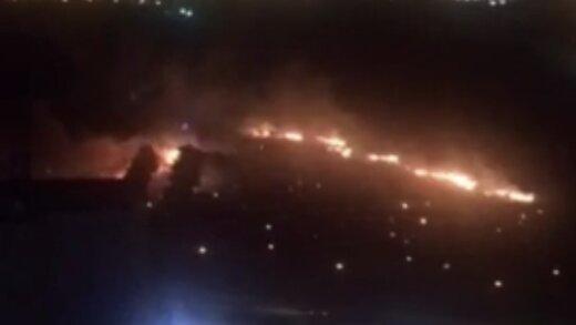 ببینید | آتش سوزی پارک چیتگر عمدی بود!