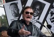 حضور تارانتینو در ناآرامیهای نیویورک/عکس